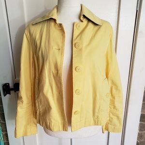 LLbean yellow jean jacket